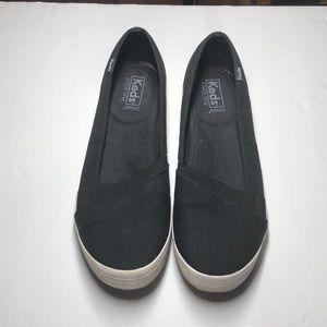 Keds black slip on shoes size 8.5